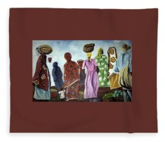 Mombasa Market Fleece Blanket