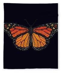 Monarch Butterfly Bedazzled Fleece Blanket