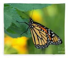 Monarch Butterfly Fleece Blanket