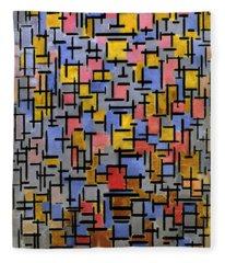 Mondrian Composition 1916 Fleece Blanket