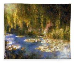 Monet After Midnight Fleece Blanket