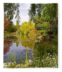 Monet's Water Garden 2 At Giverny Fleece Blanket