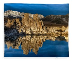Mono Lake In March Fleece Blanket