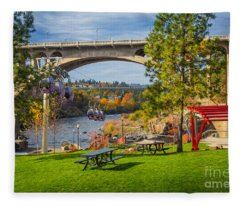 Monroe Street Dam Fleece Blanket