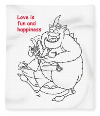 Monster Valentine Fleece Blanket