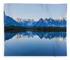 Mont Blanc Massif Panorama Fleece Blanket