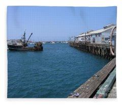 Monterey Municipal Wharf Fleece Blanket