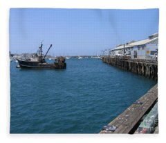 Monterey Municipal Wharf Fleece Blanket