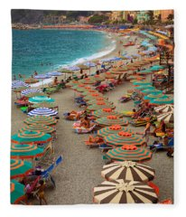Monterosso Beach Fleece Blanket