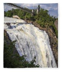 Montmorency Falls Park Quebec City Canada Fleece Blanket