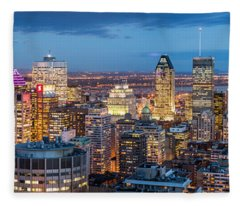 Montreal Panorama Fleece Blanket