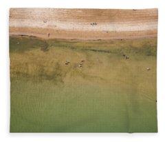 Montrose Beach Dog Park Fleece Blanket