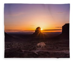 Monument Sunrise Fleece Blanket