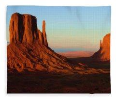 Monument Valley 2 Fleece Blanket
