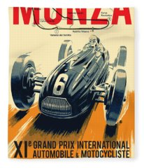 Monza Grand Prix Fleece Blanket