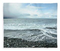 Moody Waves French Beach Fleece Blanket