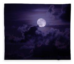 Moody Moon Fleece Blanket