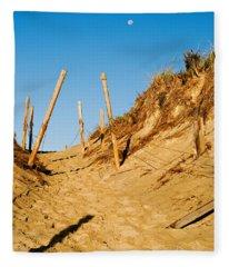 Moon And Dunes Fleece Blanket