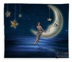 Moon Goddess Fleece Blanket