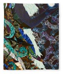 Moon Guardian - The Keeper Of The Universe Fleece Blanket