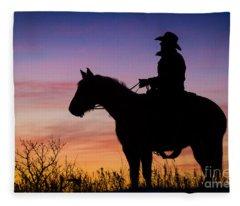 Moon On The Range Fleece Blanket