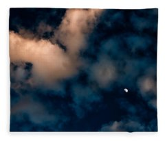 Moon Over Maui   Fleece Blanket