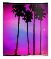 Moon Palms Fleece Blanket