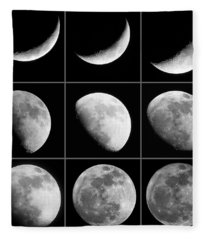 Moon Progression Fleece Blanket