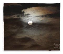 Moon Shine 2 Fleece Blanket