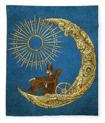 Moon Travel Fleece Blanket