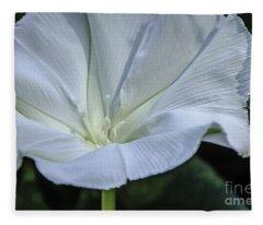 Moonflower 1 Fleece Blanket