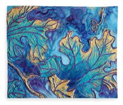 Fleece Blanket featuring the painting Moonlight On The Vine by Sandi Whetzel