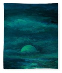 Moonlight On The Water Fleece Blanket