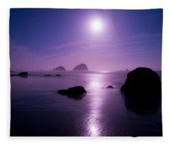 Moonlight Reflection Fleece Blanket