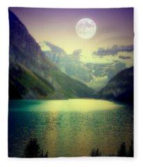 Moonlit Encounter Fleece Blanket
