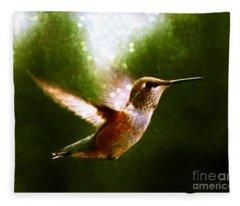 Moonlit Iridescence  Fleece Blanket