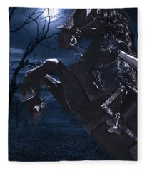 Moonlit Warrior Fleece Blanket