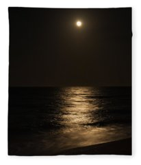 Moon Over Water Fleece Blanket