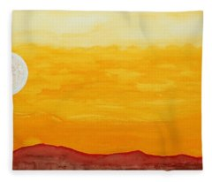 Moonshine Original Painting Sold Fleece Blanket