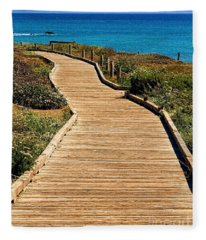 Moonstone Beach Park By Diana Sainz Fleece Blanket