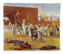 Moorish Procession Fleece Blanket