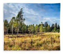 Wetlands In The Black Forest Fleece Blanket