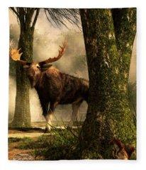 Moose And Squirrel Fleece Blanket