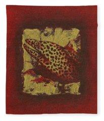 Moray Eel Fleece Blanket