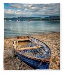Morfa Nefyn Boat Fleece Blanket
