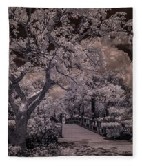 Morikami Gardens - Bridge Fleece Blanket