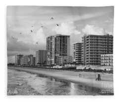 Morning At Daytona Beach Fleece Blanket
