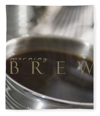 Morning Brew Fleece Blanket