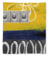 Morning Buddha Fleece Blanket