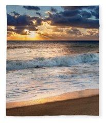 Morning Clouds Square Fleece Blanket